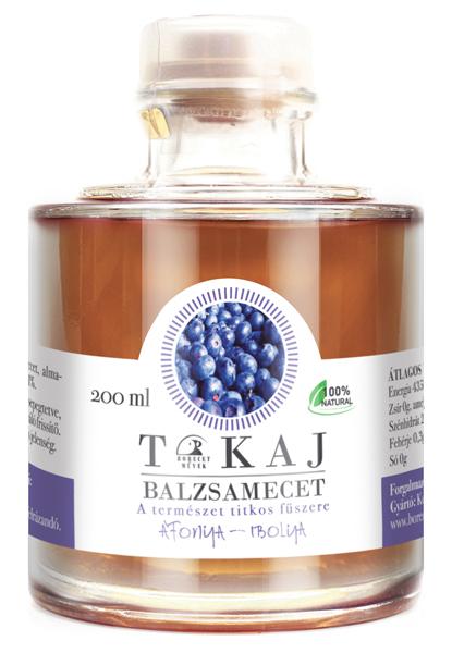 Tokajský balsamikový ocet s borůvkami a fialkami, 200ml