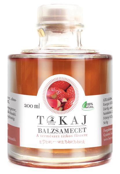 Tokajský balsamikový ocet s jahodami a rebarborou, 200ml
